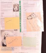 Entertainment Autographs – featuring Gracie Fields (1898-1979), Cilla Black (1943-2015), Dame
