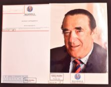 Robert Maxwell (1923-1991) Autographed Photograph signed in ink to the front together with Kevin