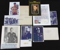 Military Autographs to include Leon Degrelle (1906-1994) signed cutting with 'Epic: The Story of the