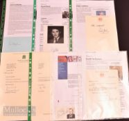 Selection of Political Autographs featuring James Callaghan, David Steel, Paddy Ashdown, Michael