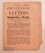 East India Company Document, 1682 being a collection of Letters (Proposals) for increasing the trade