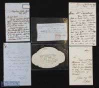 Selection of Autographs – featuring Robert Benton Seeley (1798-1886) – 'Father of the Publishing