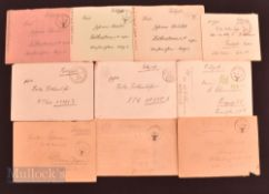 WWII Germany – Handwritten letters with envelopes with all envelopes having 'Eagle Fieldpost' stamp,