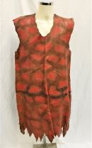 THE FLINTSTONES (1994/2000) - HAND MADE RED LEATHER MEN'S TUNIC/DRESS the brown/red leather tunic