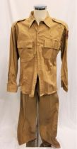 PEARL HARBOR (2001) - U.S. ARMY AIR CORP UNIFORM Gents dark beige military uniform, trousers 32 inch