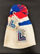 TAI BABILONIA - 1980 OLYMPIC HAT with Star Wares Collectibles certificate of authenticity Note: