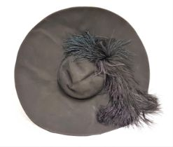 THE GOVERNESS (1998) - ROSINA DA SILVER'S WIDE BRIMMED HAT WITH FEATHER - PLAYED BY MINNIE DRIVER