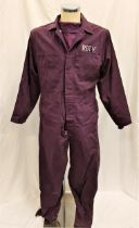 THE ADVENTURES OF ROCKY & BULLWINKLE (2000) - RBTV JUMPSUIT AND SHIRT Gents 100% cotton, purple died