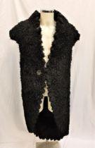 THE FLINTSTONES (1994/2000) - MEN'S FAUX FUR COSTUME the large black faux fur sleeveless coat with a