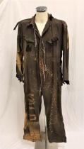 WATERWORLD (1995) - DISTRESSED 'BOAT PEOPLE' SMOKER JUMPSUIT Gents Dark grey jump suit, been