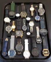 SELECTION OF LADIES AND GENTLEMEN'S WRISTWATCHES including Emporio Armani, Casio, Fossil, Guess,