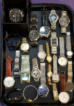 SELECTION OF LADIES AND GENTLEMEN'S WRISTWATCHES including Cressi Sub, Viceroy, Fossil, Rosefield,