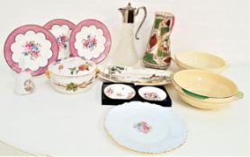 MIXED LOT OF CERAMICS including an Austrian hand painted jug, Alton shaped dish, a boxed Royal