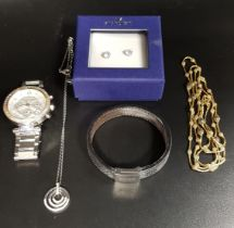 SELECTION OF FASHION JEWELLERY comprising a Michael Kors wristwatch, model number MK-5353; a pair of