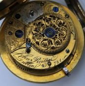 George III Irish cylinder escapement pocket watch by John Reilly, Dublin.