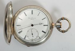Swiss silver- and gold-cased pocket watch