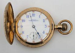 A 19th century gilt-cased pocket watch.