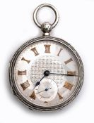 Edwardian silver pocket watch by John Forrest Chronometer Makers to The Admiralty