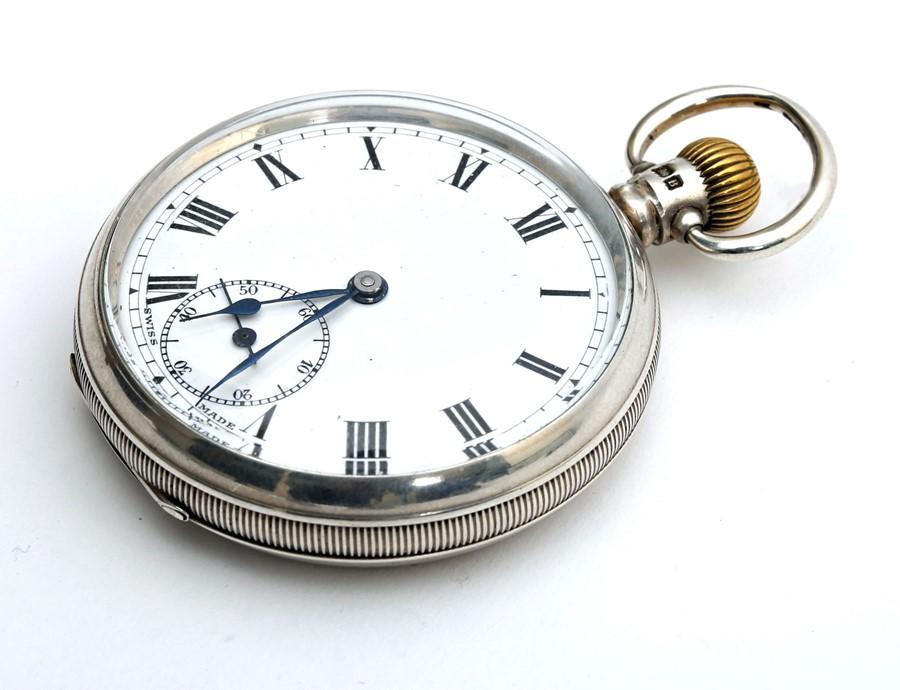 1920s silver-cased Swiss pocket watch.