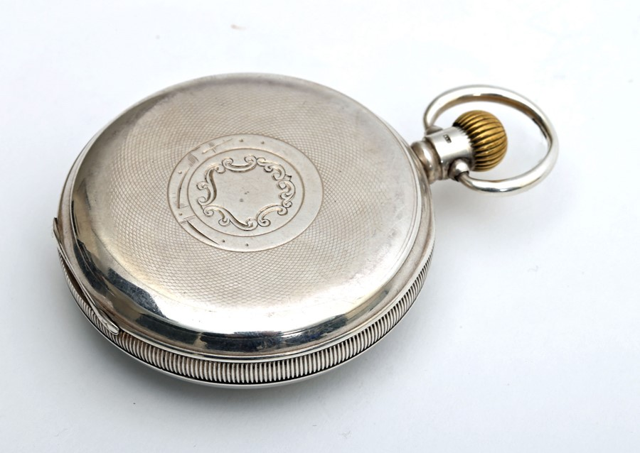 1920s silver-cased Swiss pocket watch. - Image 3 of 4