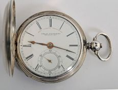 Mid 19th century silver cased pocket watch by Joseph Johnson, Liverpool.