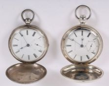 Two 1850s Appleton Tracy & Co. pocket watches with sequential serial numbers.