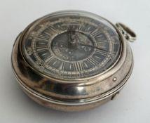 George II Irish fusee pocket watch by Thomas Coote, Dublin.