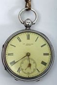 1916 silver-cased, pocket-watch by William Hilliard, Tralee.