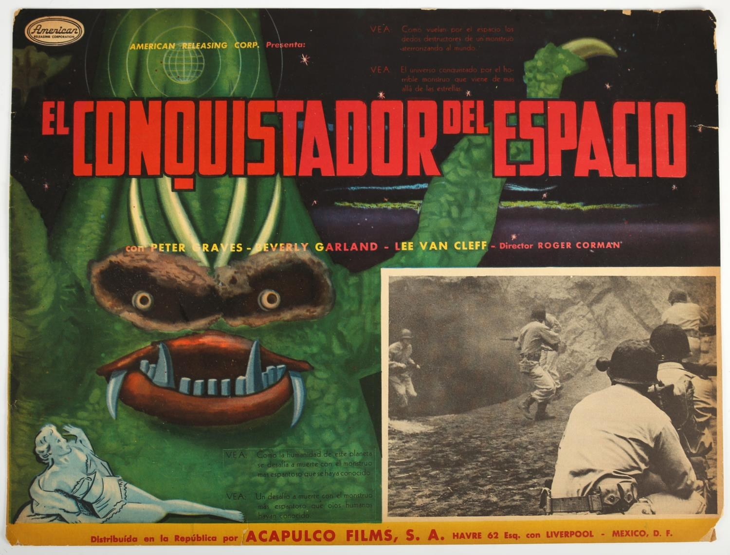 A collection of three 1950's Spanish language lobby cards. Tres Hijos Del Diablo (3 Godfathers), - Image 2 of 2