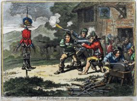 1798 United Irishmen in Training, cartoon by Gillray, published by Thomas McLean. After James