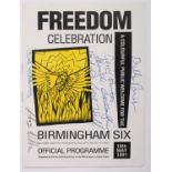 1991 (May 18) Birmingham Six Freedom Celebration, official programme, signed by the Birmingham