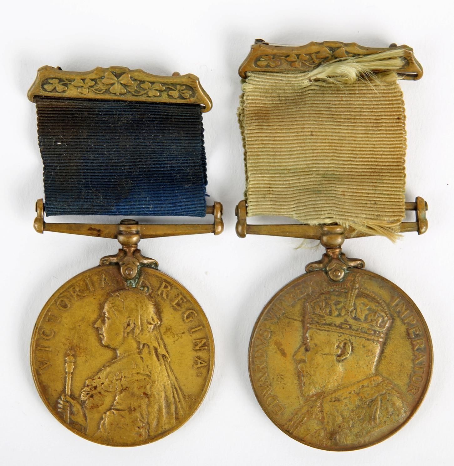 Dublin Metropolitan Police pair to Constable Martin Power, a 1900 Visit of Queen Victoria Medal