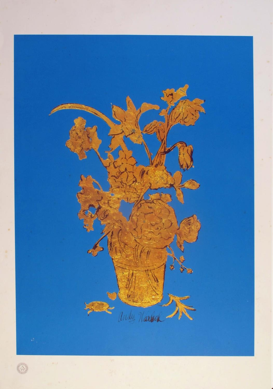 Andy Warhol and a collection of 12 1980s and 1990s advertising and decorative posters. A