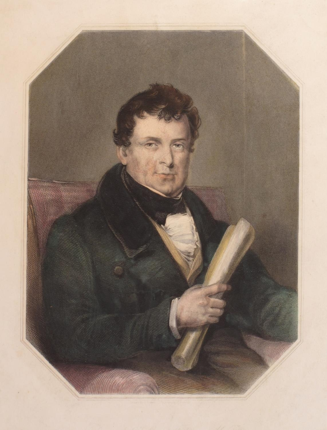 Daniel O'Connell, cartoons and portrait engravings. A hand-coloured engraved portrait of Daniel O' - Image 5 of 5