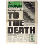 An Phoblacht/Republican News. 1981, all 50 issues of the weekly newspaper published that year.