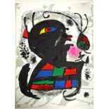 After Joan Miro (1893-1983) Four abstract compositions. Colour lithograph on rag paper, sizes up