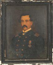 """19th Century, Irish school. Francis 'The Sword' Meaghar Oil on canvas, 18"""" x 14"""" (46 x 36cm)."""