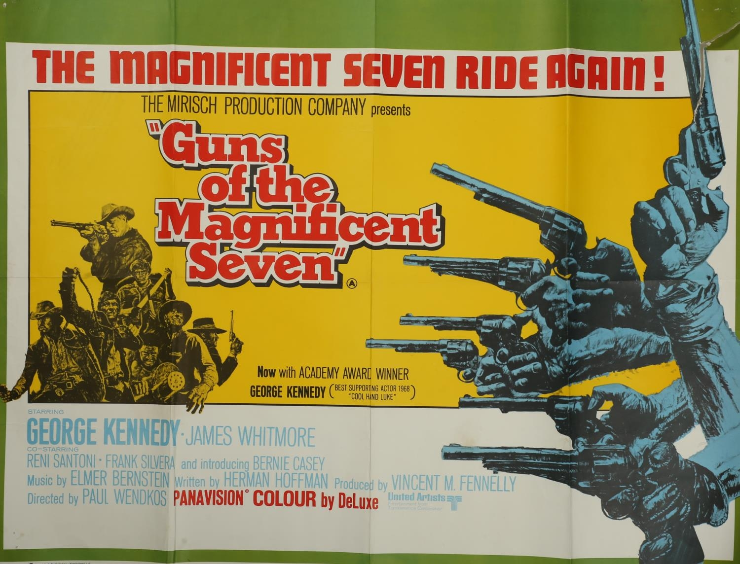 A collection of seven cinema posters for Western films, Haunted Gold, R-1956, (US one sheet); Chisum - Image 5 of 7