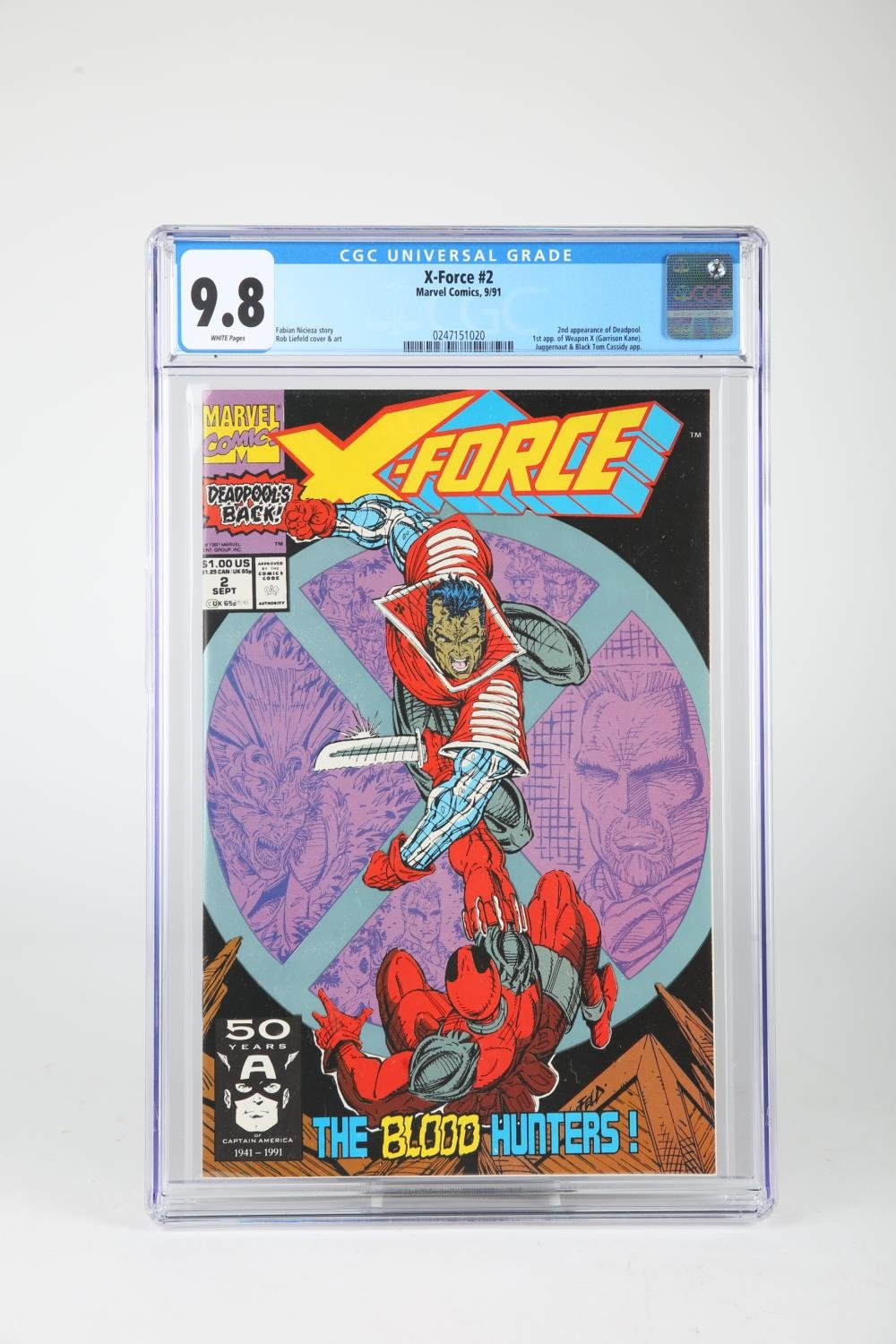 Comics, X-Force #2 & #11 and X-Factor #6, (Marvel, 1986-1991) X-Force #2 CGC certified and graded