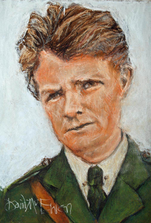 "David McEwen, Irish. Sean Hogan. Pastel on card, 12½"" x 9½"" (32 x 24cm) Signed."