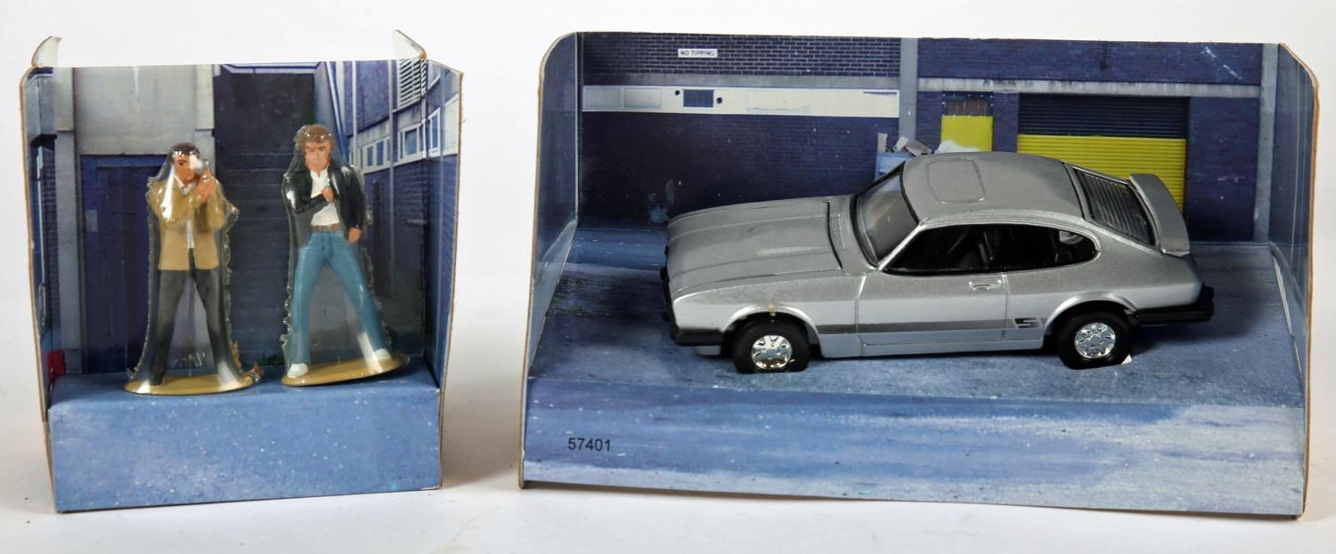 The Professionals, Ford Capri and The Avengers, Steed's Bently. Corgi Toys 5740, silver Ford Capri - Image 2 of 3