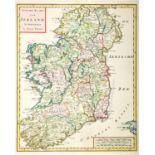 1744-1860s Maps of Ireland, Dublin and Wicklow. A hand-coloured engraved map, Nieuwe Kaart van