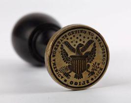 1840s Seal of the Sligo Vice-Consulate of the United States of America, James Harper, the circular