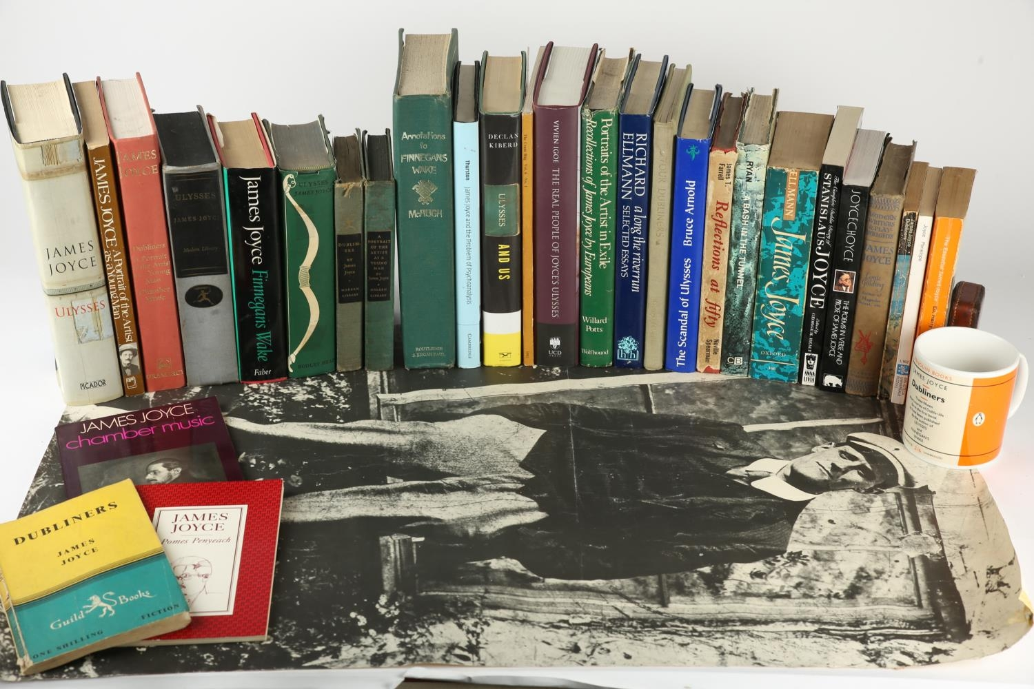 A collection of 29 books by and about James Joyce including Ulysses, Random House, 1946; Bodley