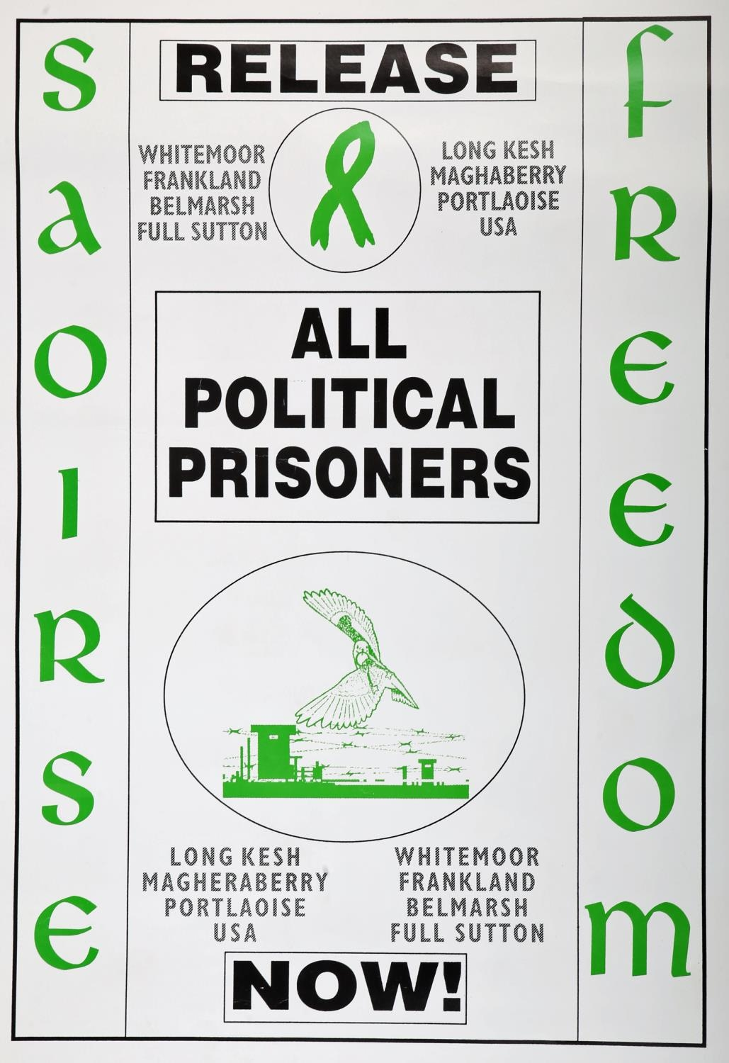 """1990s a collection of six Republican Ceasefire and Peace Process posters, """"All Party Peace Talks - Image 6 of 6"""