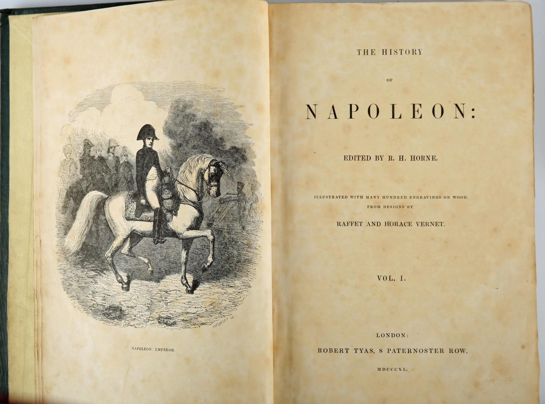 Horne, R H Ed.The History of Napoleon, Volume I. Robert Tyas, London, 1841, green cloth gilt; - Image 3 of 3