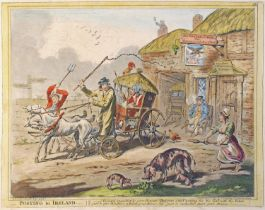 Posting in Ireland and Lord Longbow, the Alarmist, cartoons by Gillray. Lord Longbow, the