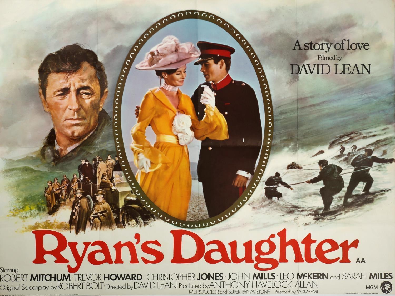 "Cinema poster. Ryan's Daughter, MGM, British quad poster, folded, 30"" x 40"" (77 x 102cm)."
