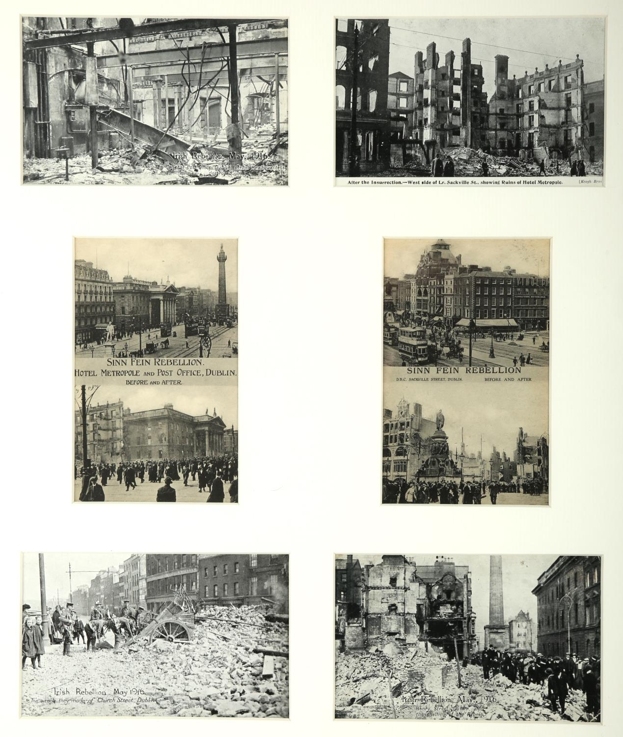 1916 Rising and aftermath. A collection of 15 1916 Rising postcards, including six attractively - Image 4 of 4