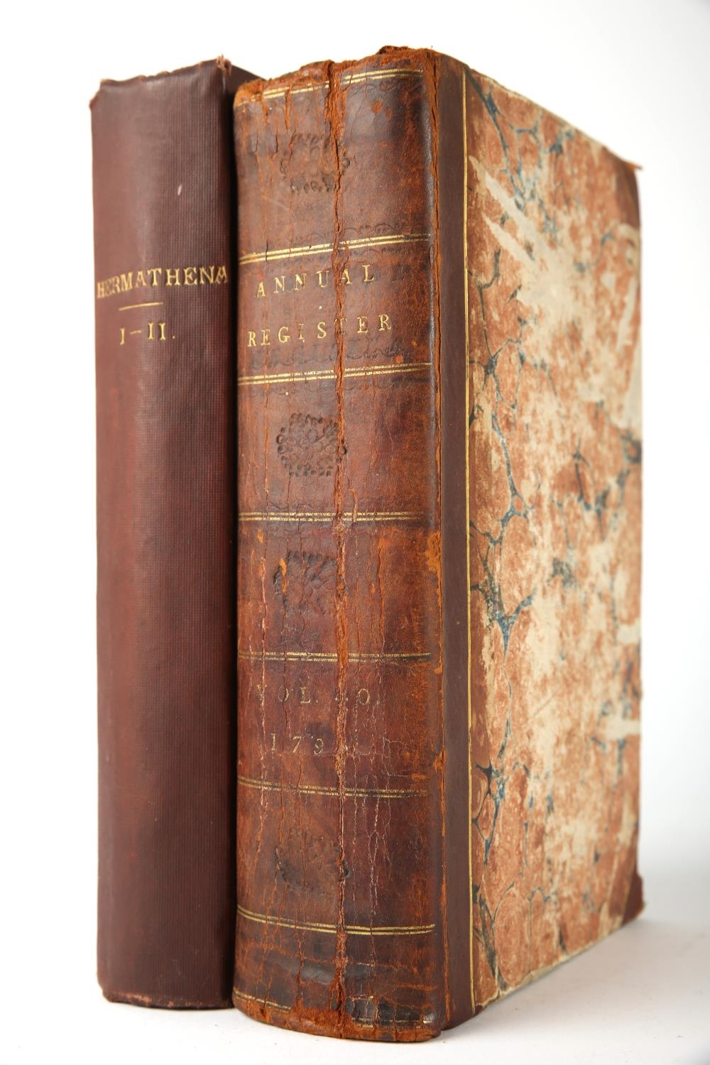 Hermathena 1874 and Annual Register 1798. Members of Trinity College Dublin. Hermathena, a series of